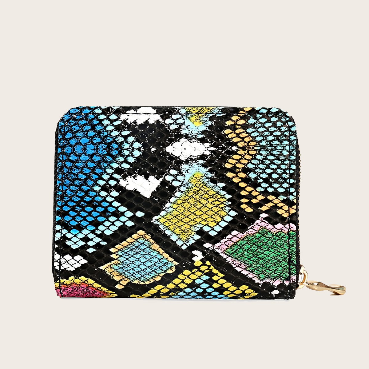 Girls Snakeskin Zip Around Purse (skbag18200624939) photo