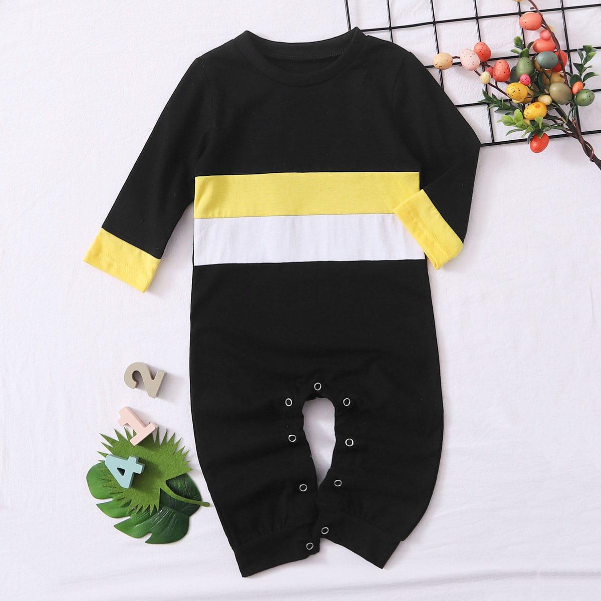 Контрастный комбинезон-футболка для девочек от SHEIN