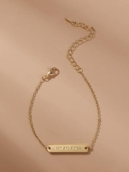 Letter Decor Bracelet