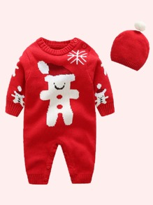 Christmas | Jumpsuit | Sweater | Baby | Girl | Hat