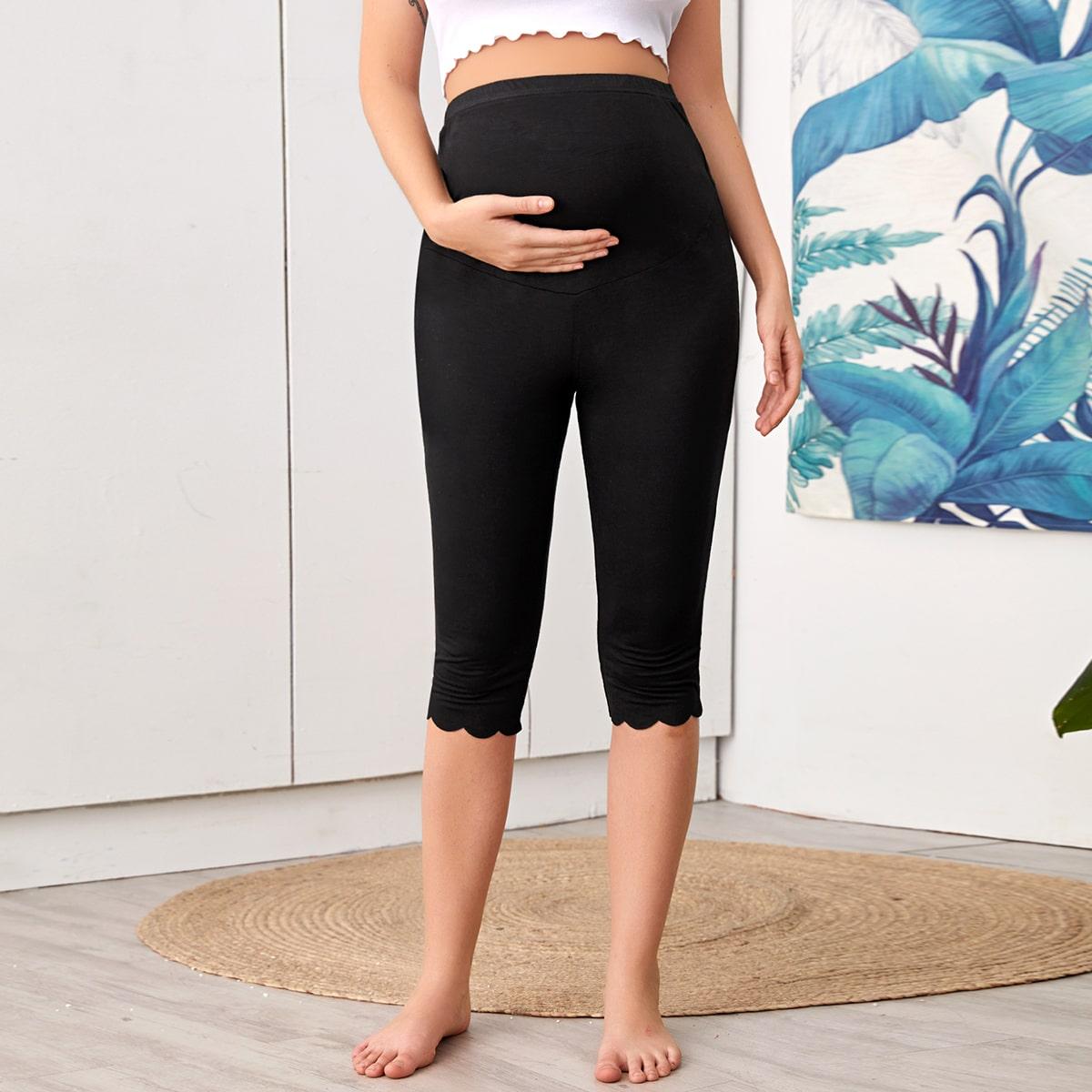 Брюки для беременных с оригинальной отделкой