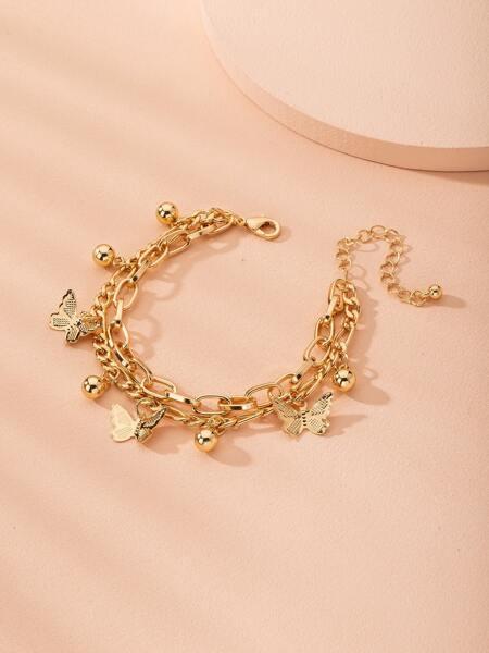 Metal Butterfly Bracelet