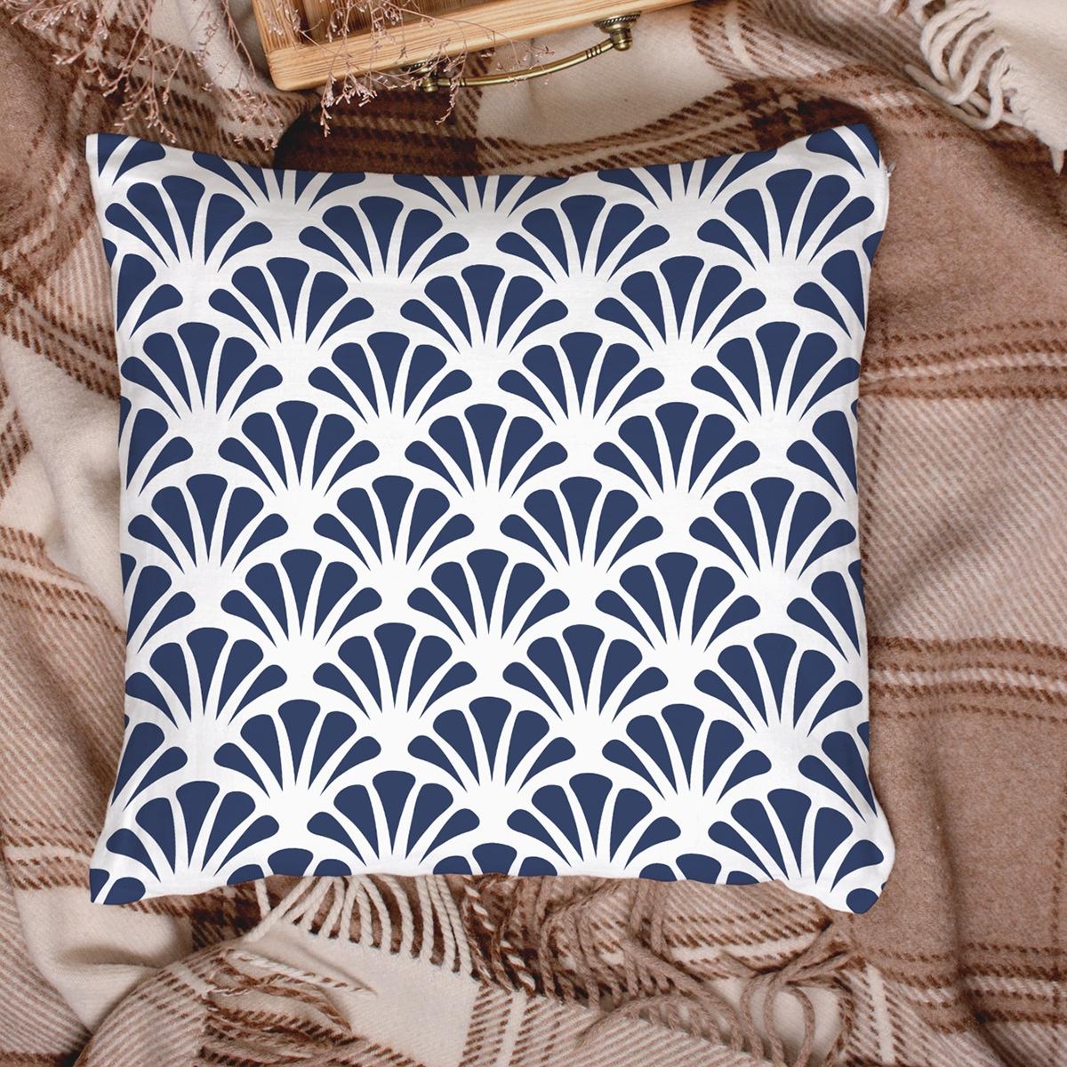 Чехол для подушки с геометрическим узором без наполнителя фото
