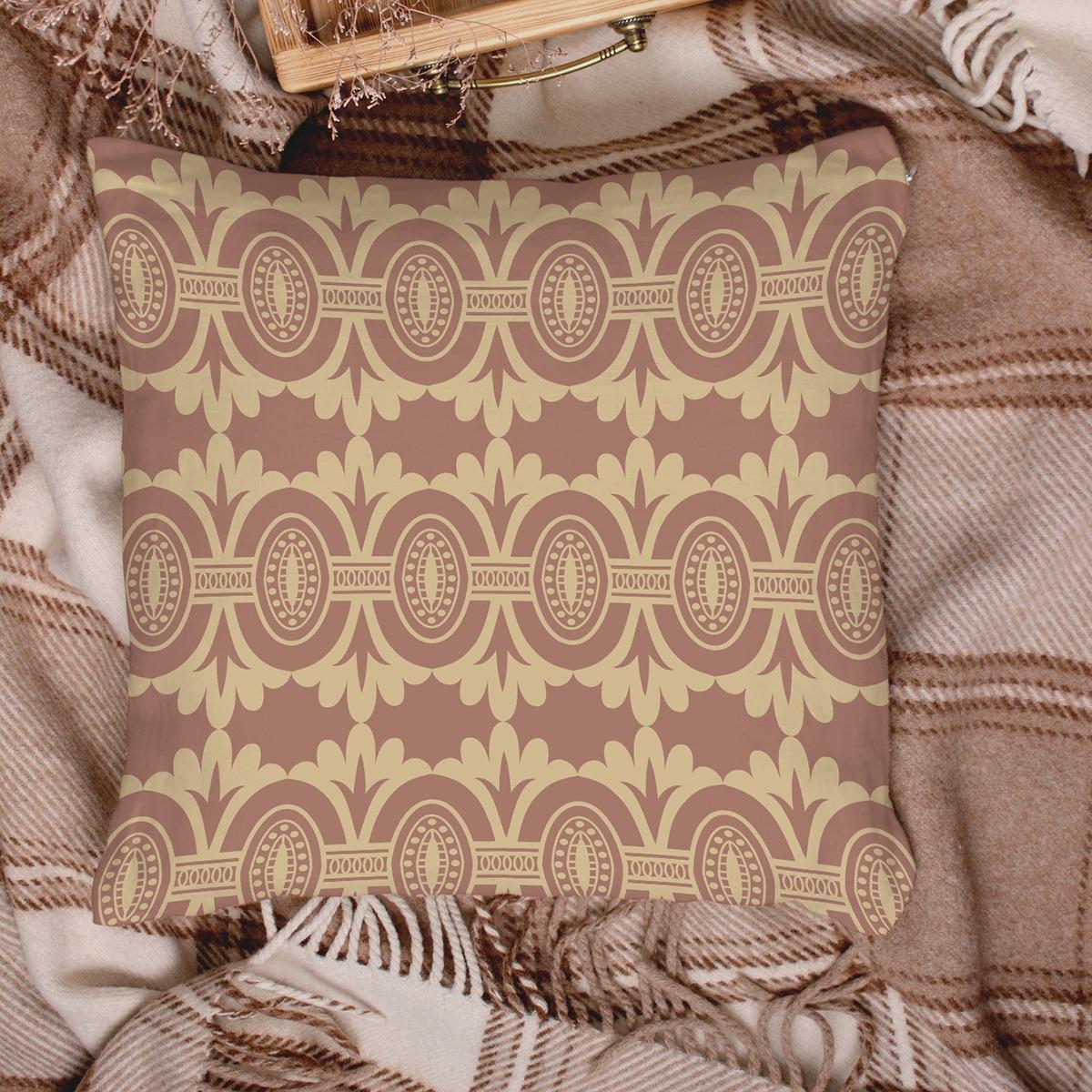 Чехол для подушки с винтажным узором без наполнителя фото