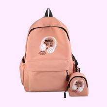 Slogan Zip Backpack & Purse (rwbag18200630376) photo