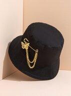 Butterfly Chain Brooch Dual-purpose Fisherman Hat