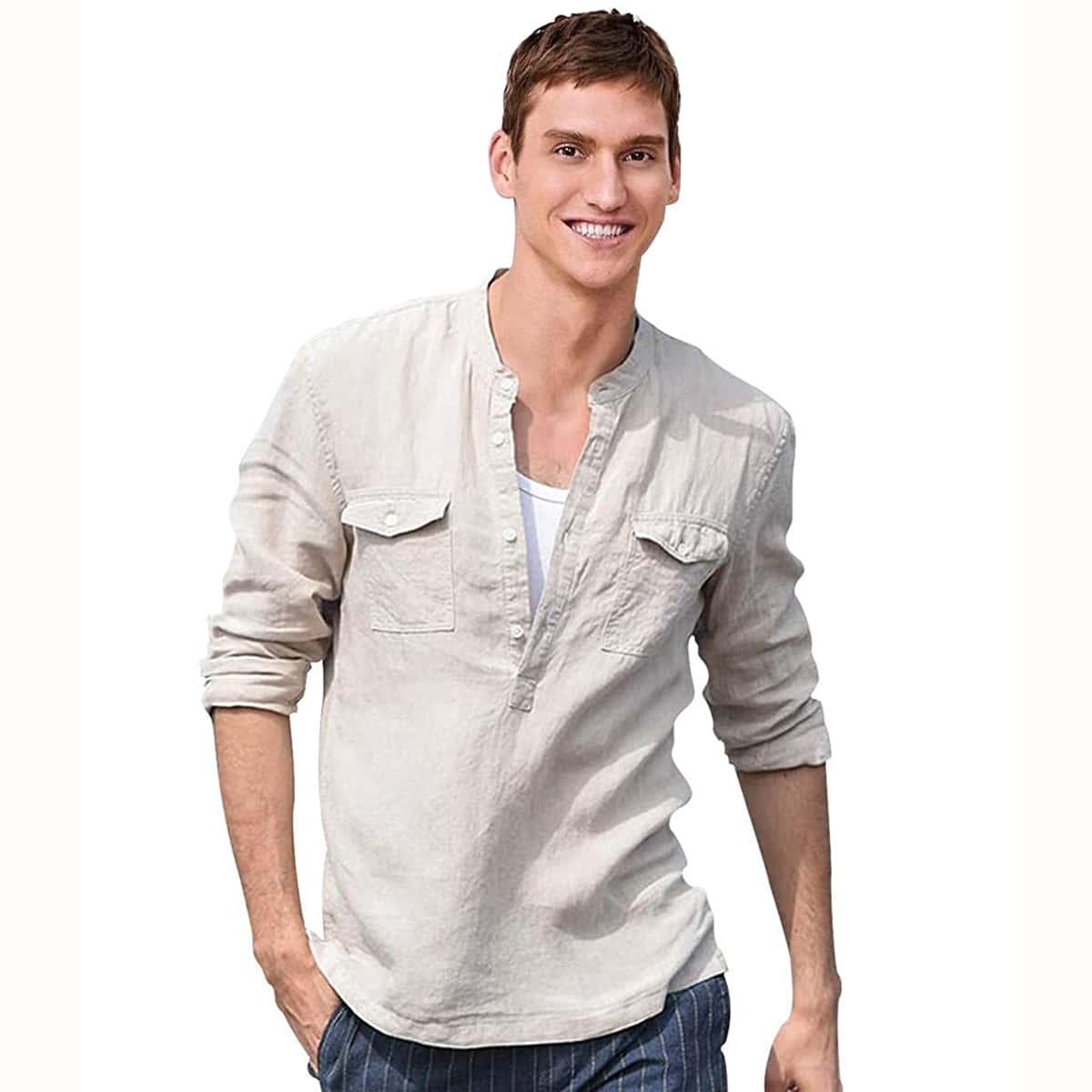 SHEIN / Camisa con bolsillo con solapa