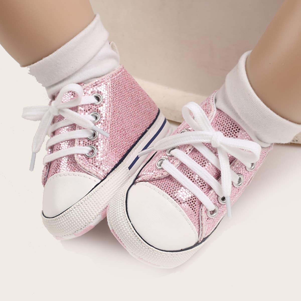 Кроссовки на шнурках для девочек от SHEIN