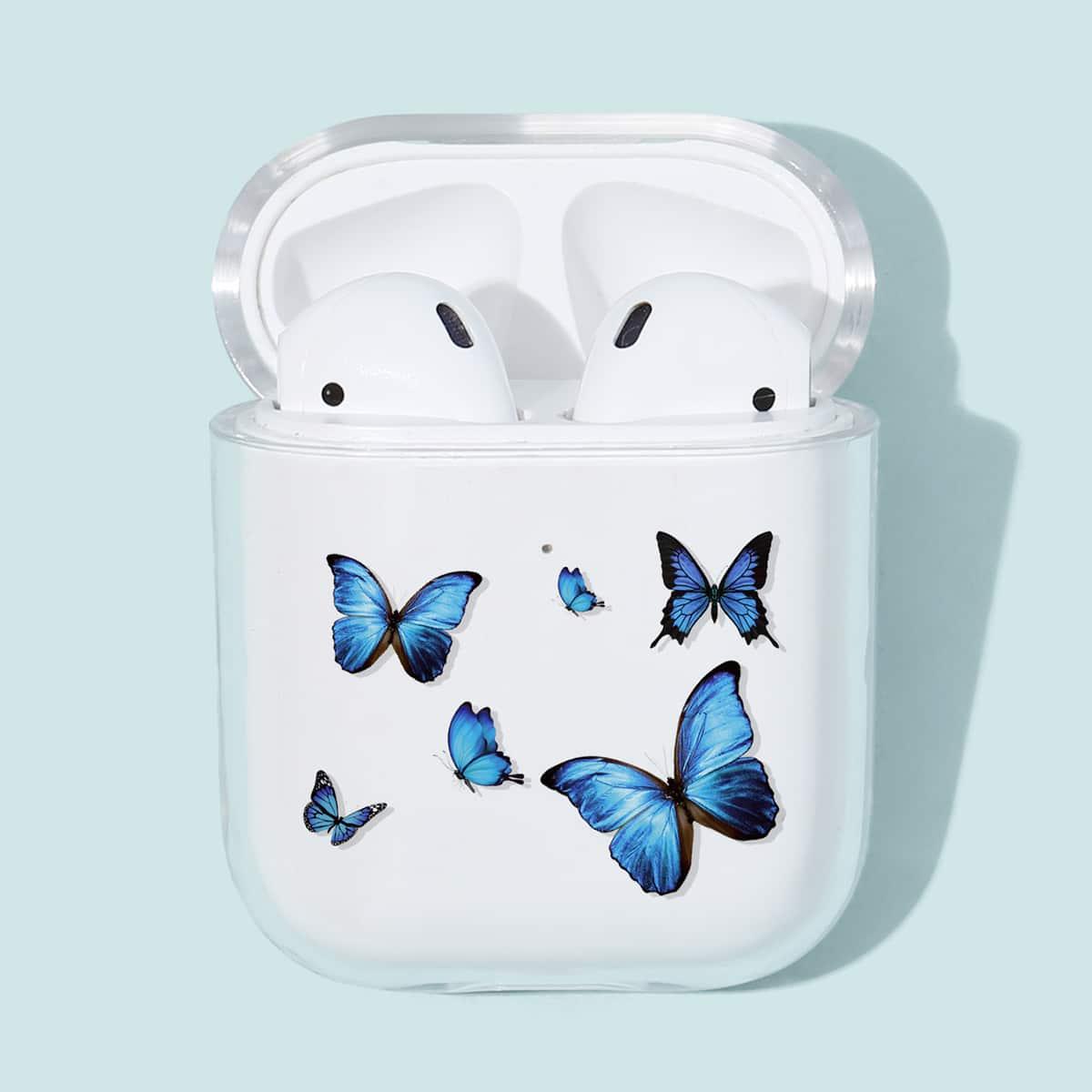 SHEIN / 1 Stück AirPods Schutzhülle mit Schmetterling Muster