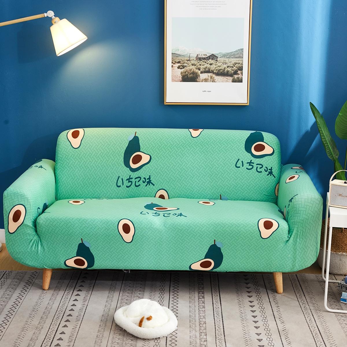 Чехол для дивана с принтом авокадо без подушки фото