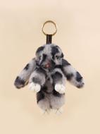 Fluffy Rabbit Charm Keychain