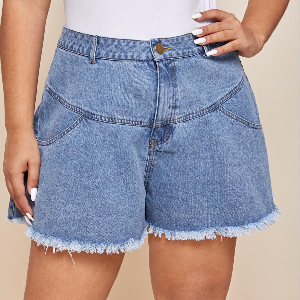 Джинсовые шорты размера плюс фото