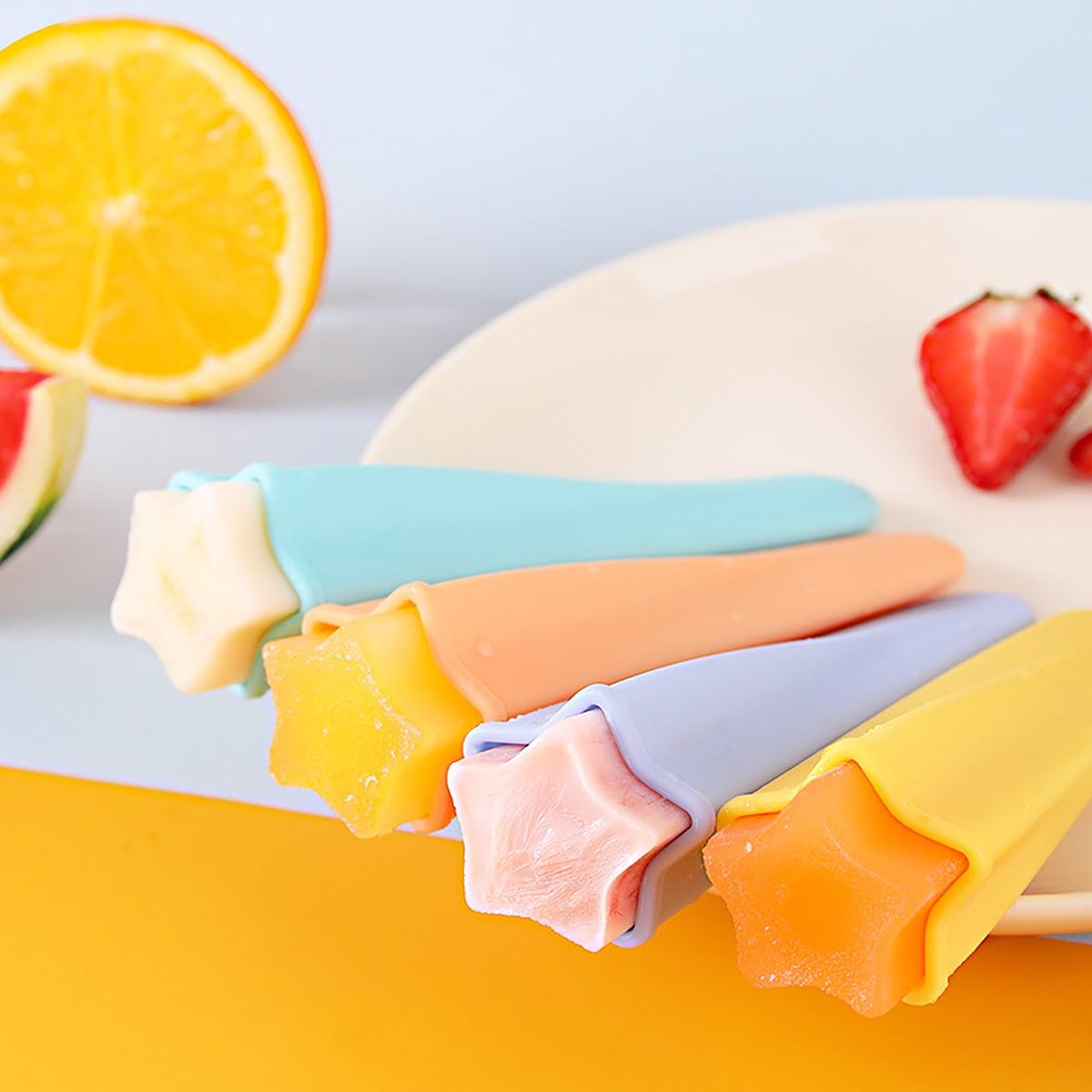 SHEIN / 1pc Random Color Silicone Ice Cream Mold