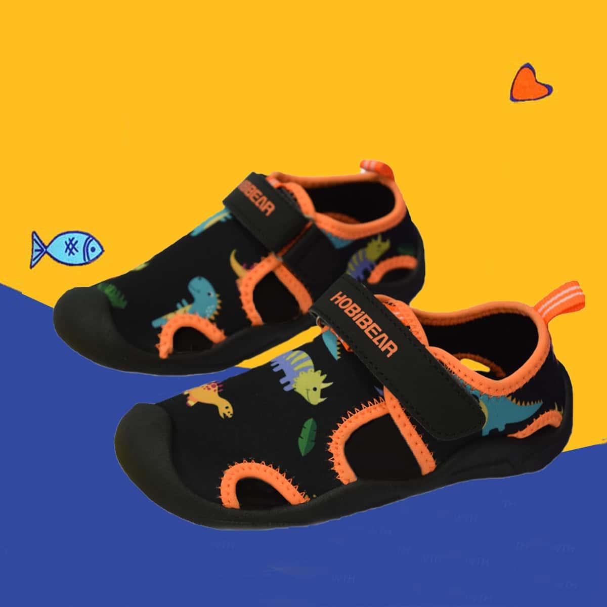 Водные туфли с мультипликационным принтом для мальчиков от SHEIN