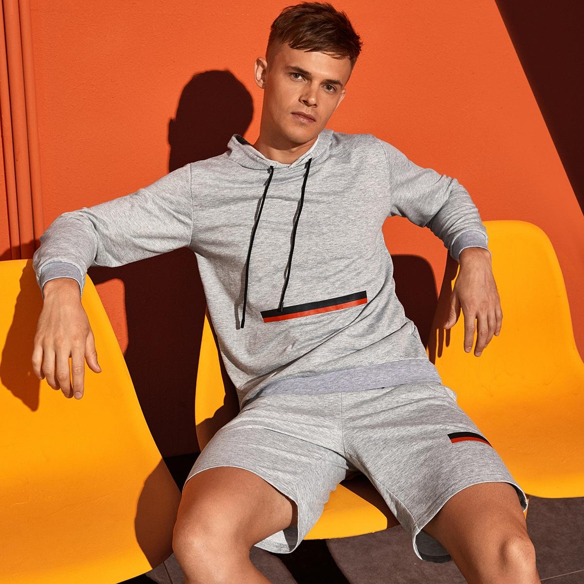 Мужские спортивные шорты и толстовка на кулиске