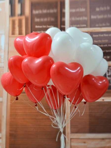 20pcs Heart Shaped Balloon Set