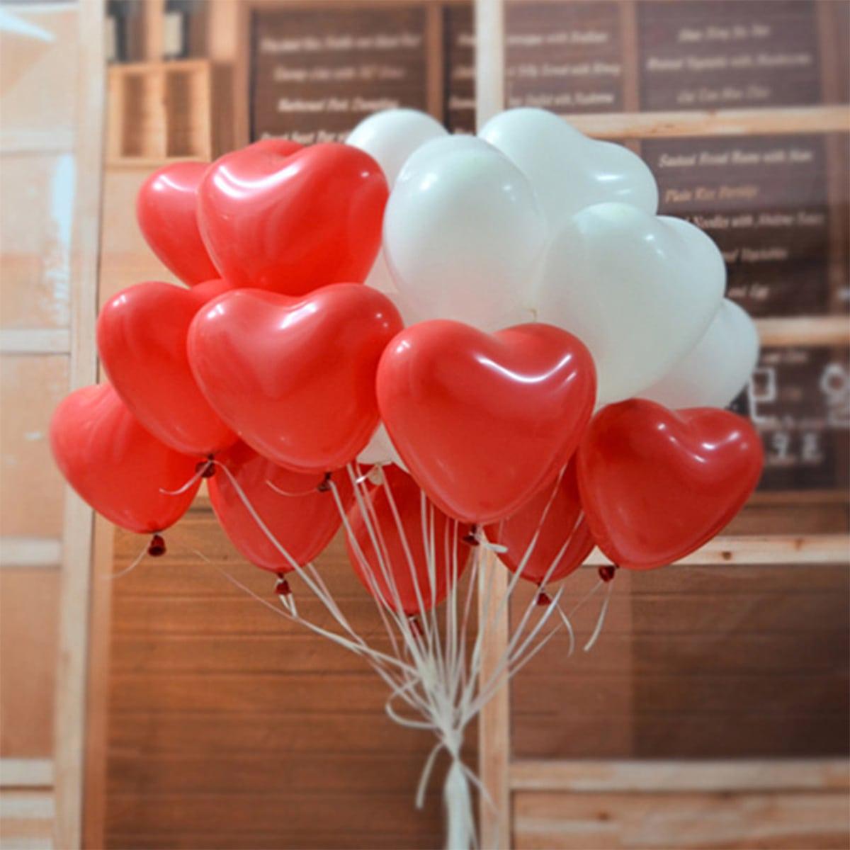 20шт воздушный шар в форме сердечка