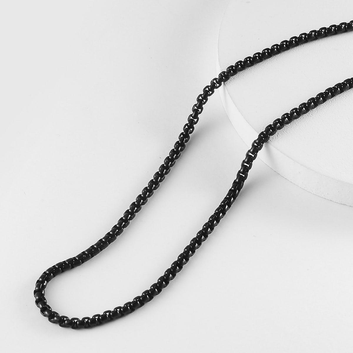 Мужское металлическое ожерелье-цепочка от SHEIN