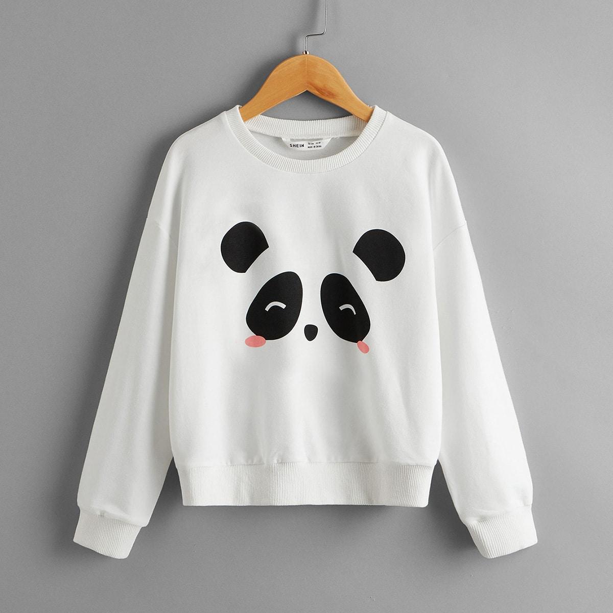 Пуловер с принтом