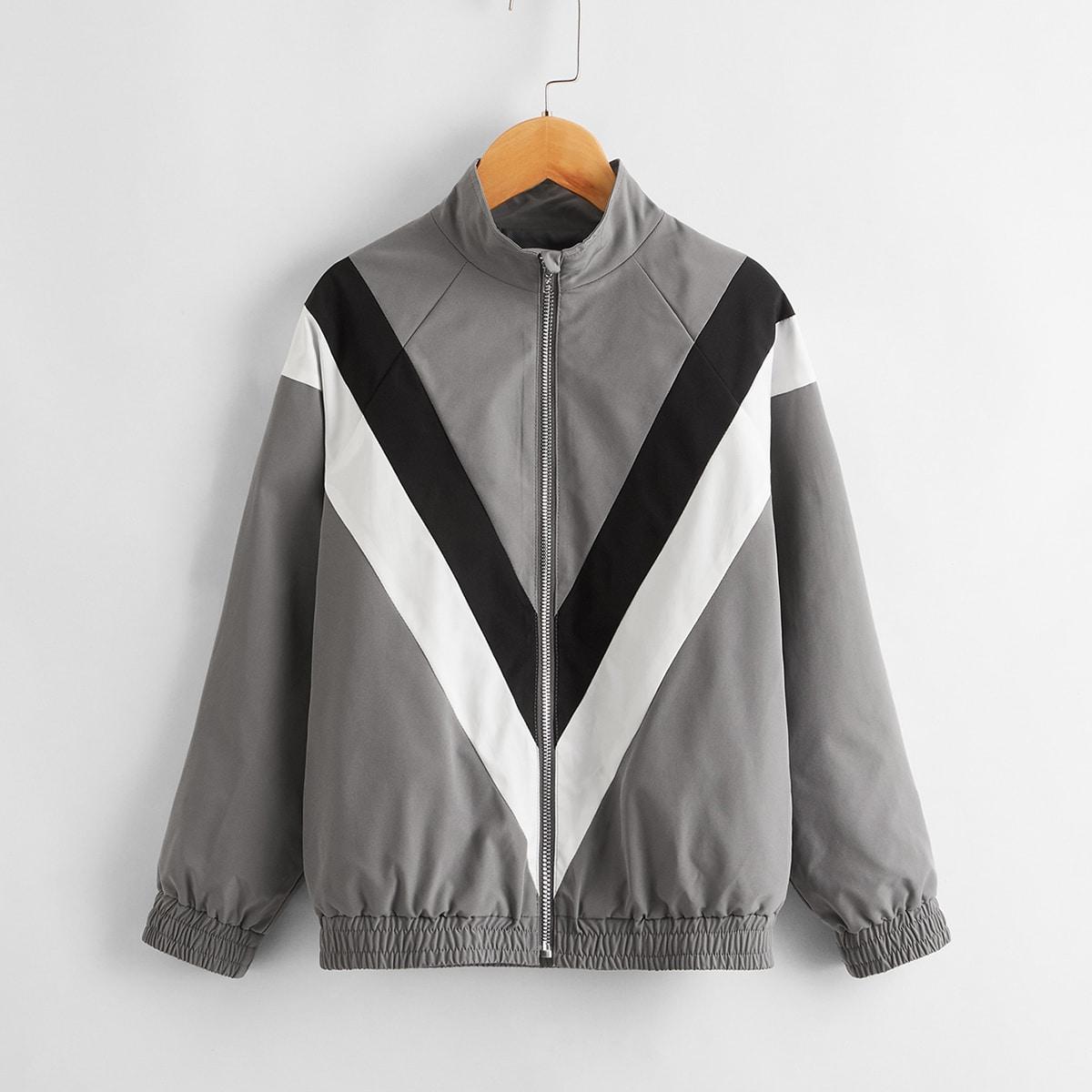 Куртка на молнии для мальчиков от SHEIN