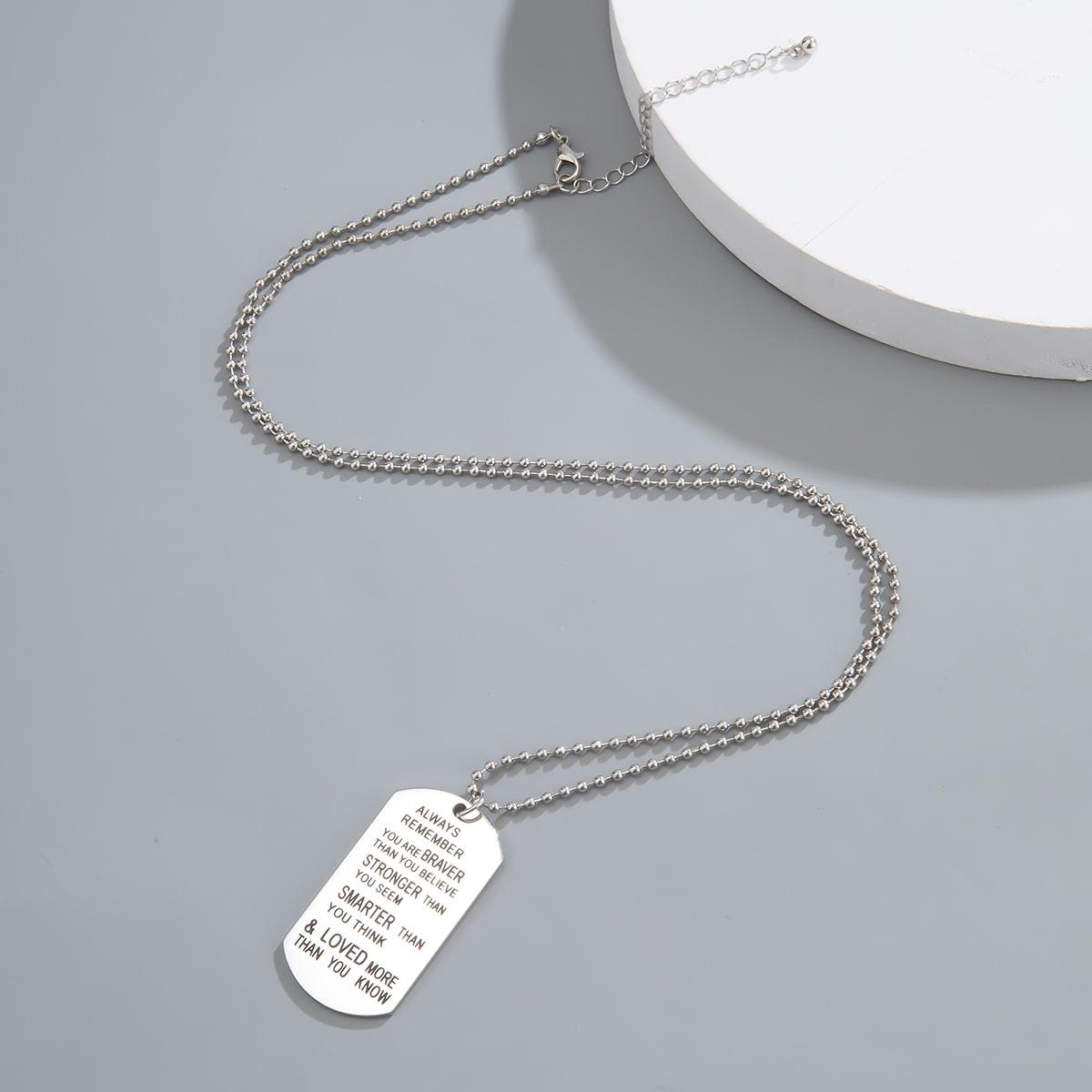 Мужское ожерелье с буквами от SHEIN