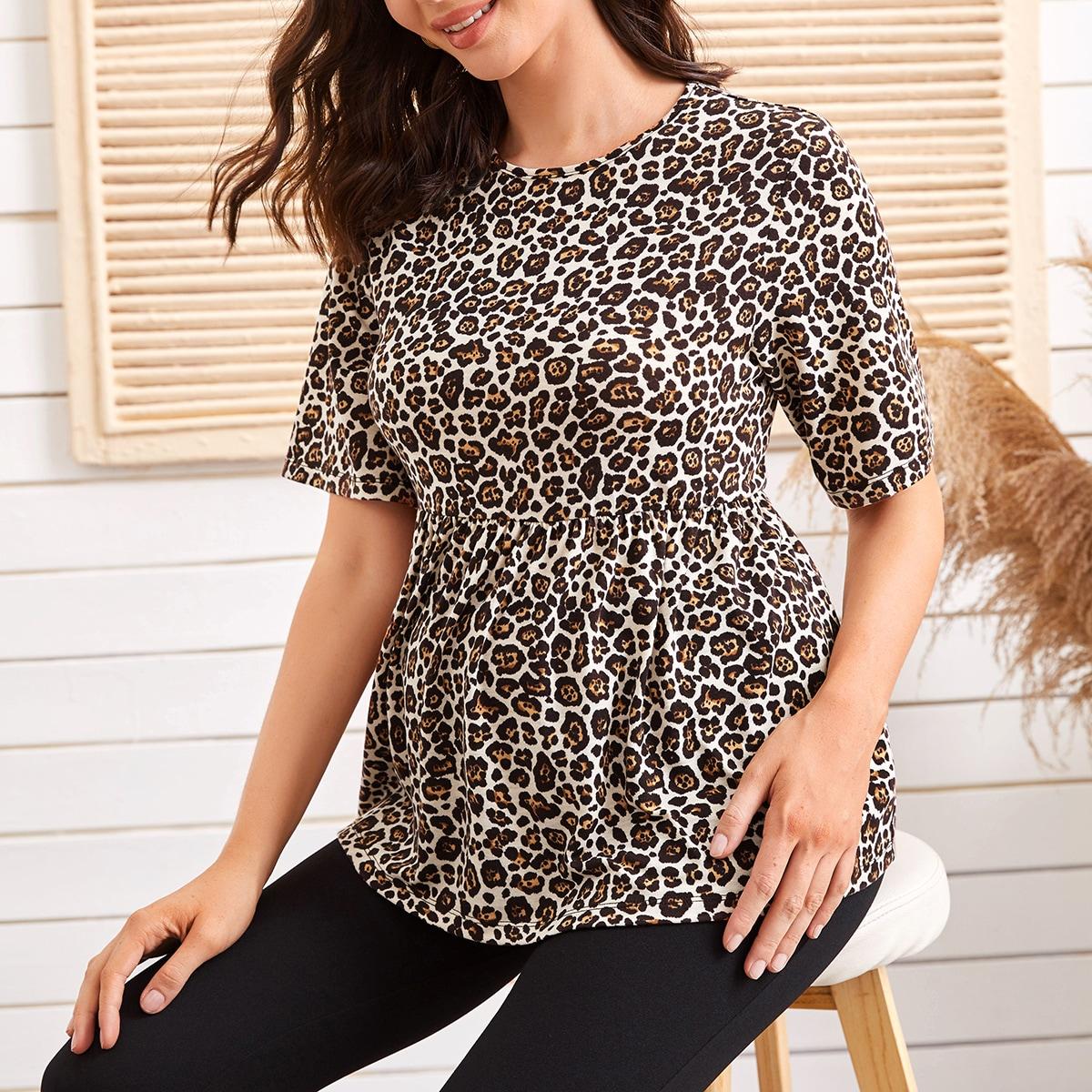 Топ с леопардовым принтом для беременных от SHEIN