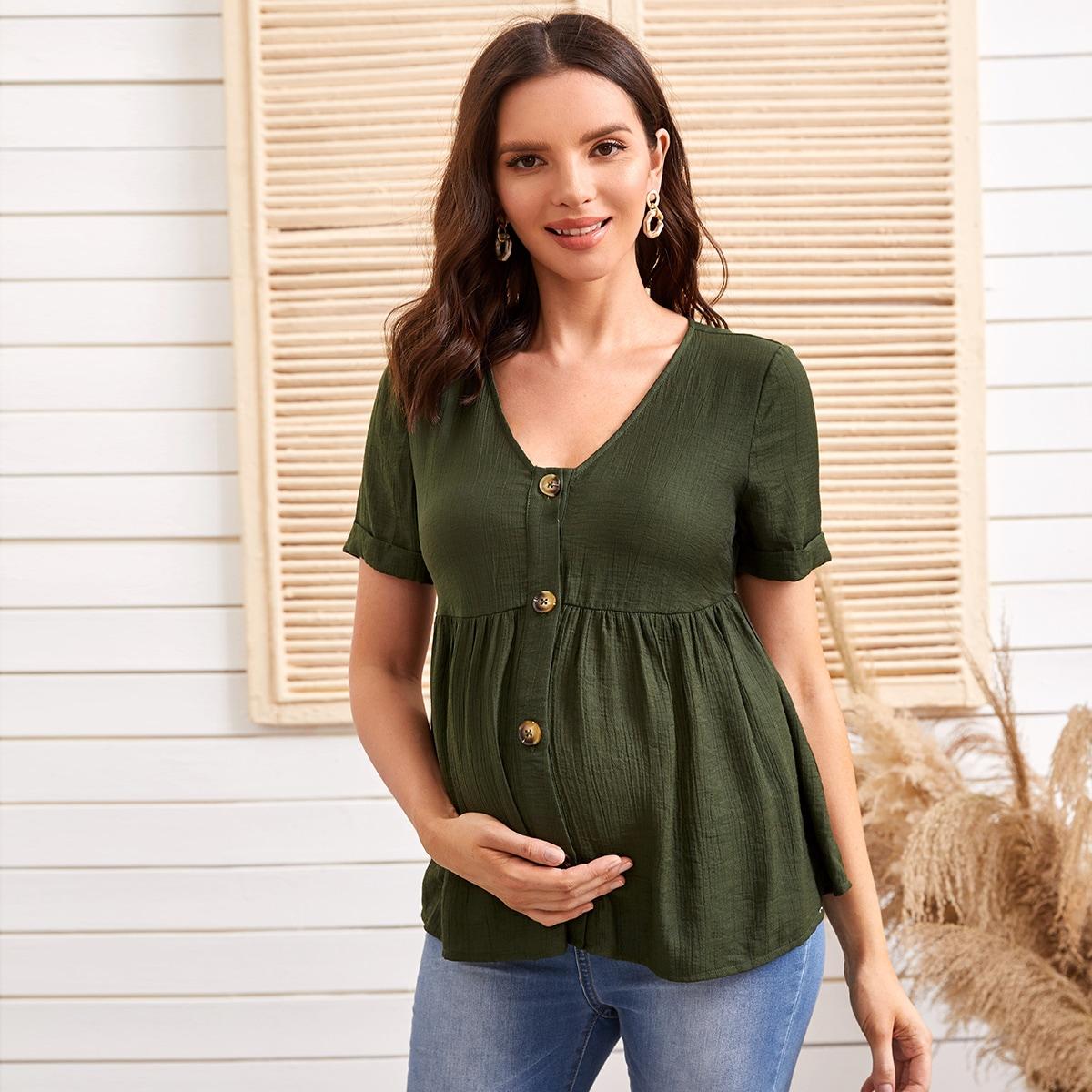 Блузка с пуговицами для беременных