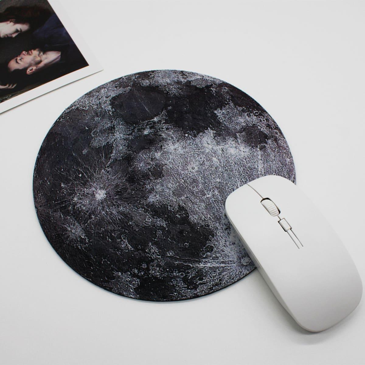 1шт коврик для мыши с принтом луны