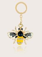 Rhinestone Decor Bee Keychain