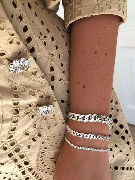 3pcs Chain Design Bracelet