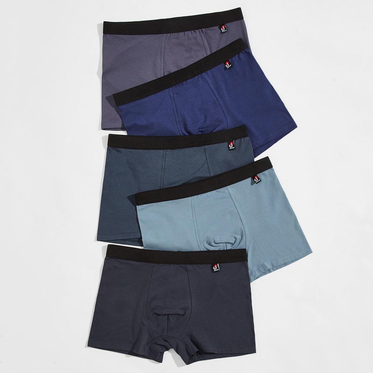 Цвет блок мода Повседневный Мужское нижнее белье от SHEIN