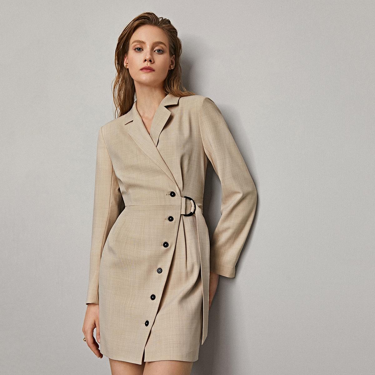 Платье-пиджак с поясом от SHEIN