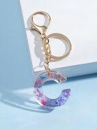 Acrylic Letter Charm Keychain