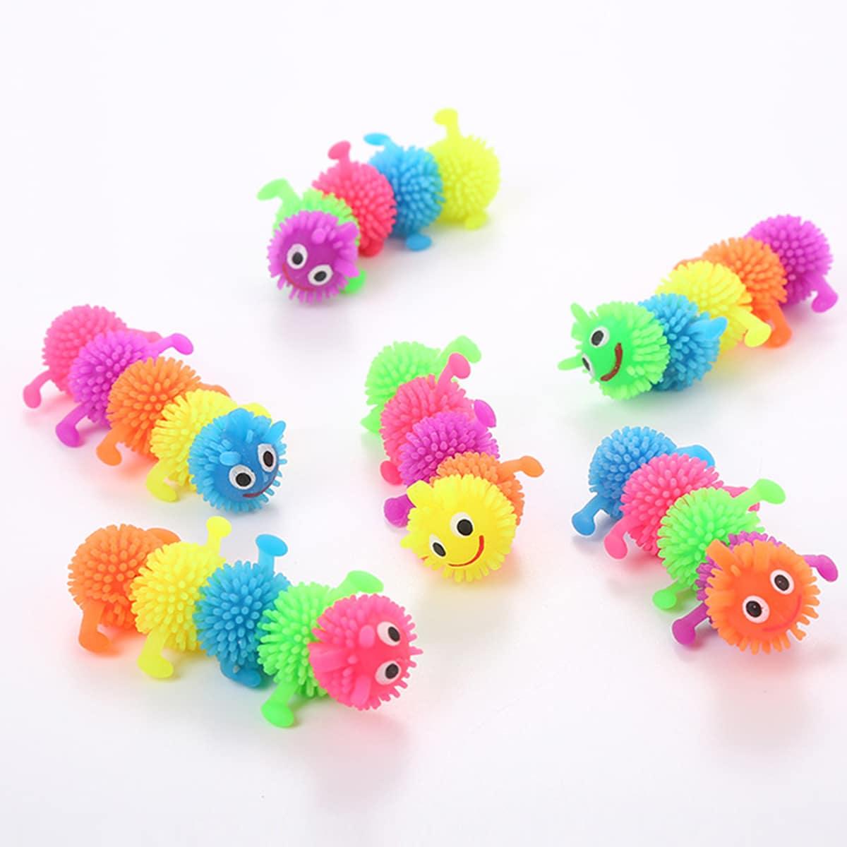 1шт игрушка в форме гусеницы для кошек случайного цвета фото