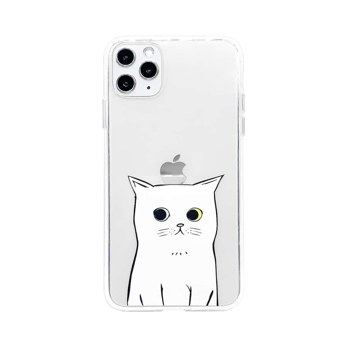 1шт прозрачный чехол для iPhone с узором кота фото