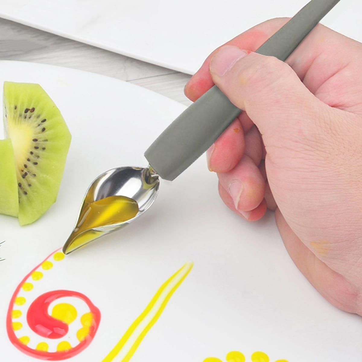 SHEIN / 1pc Fountain Pen Design Sauce Spoon