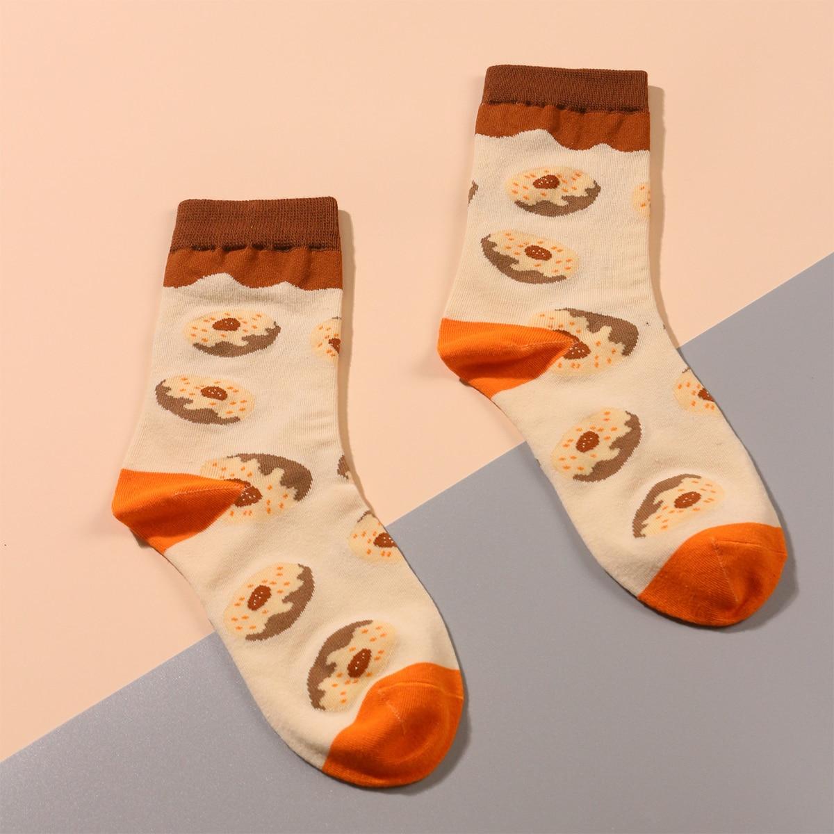 SHEIN / Socken mit Donuts Muster
