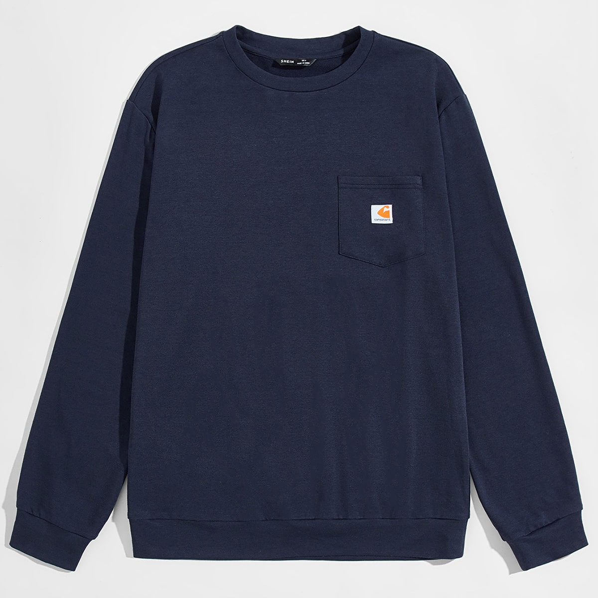 Мужской пуловер с карманом от SHEIN