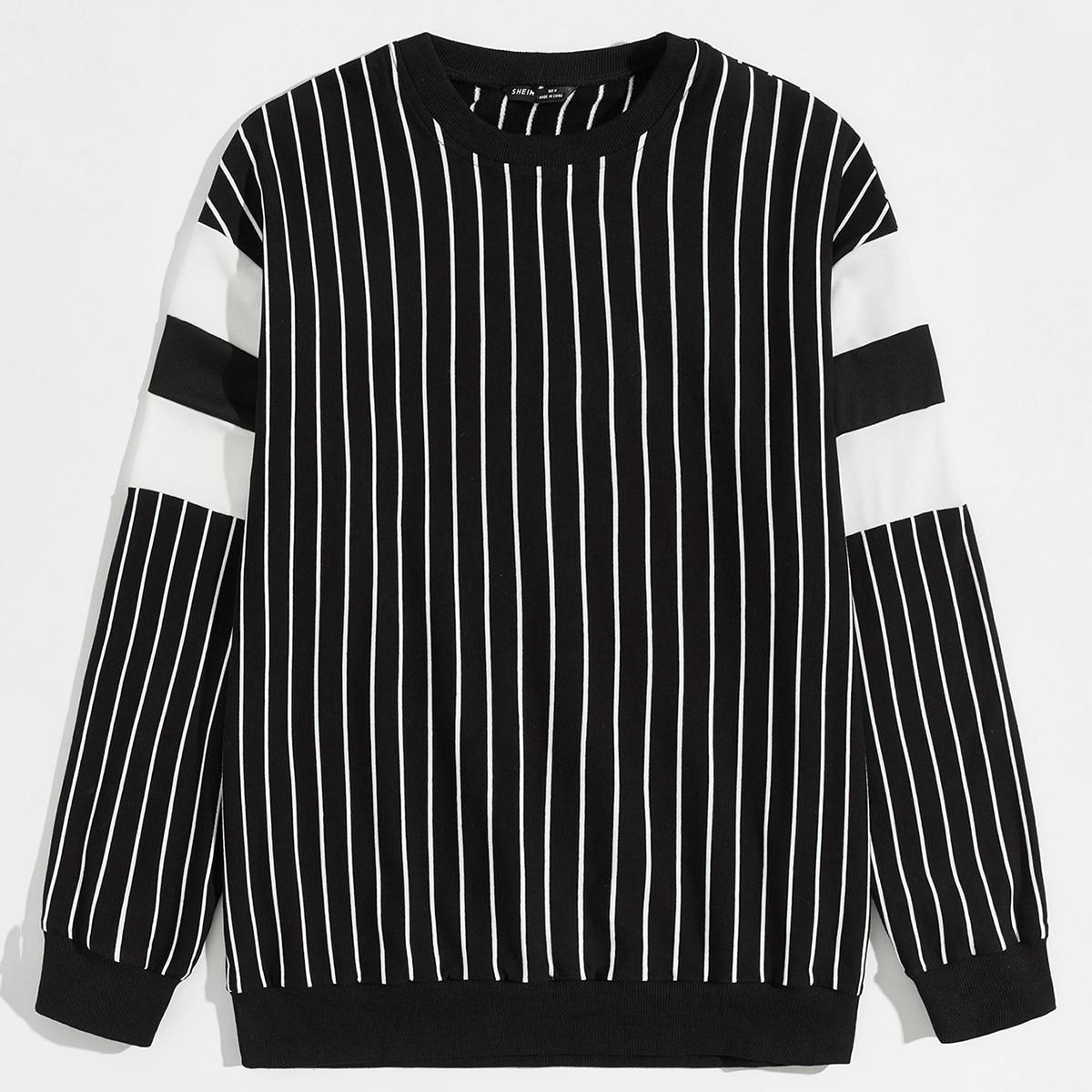 Мужской пуловер в полоску от SHEIN