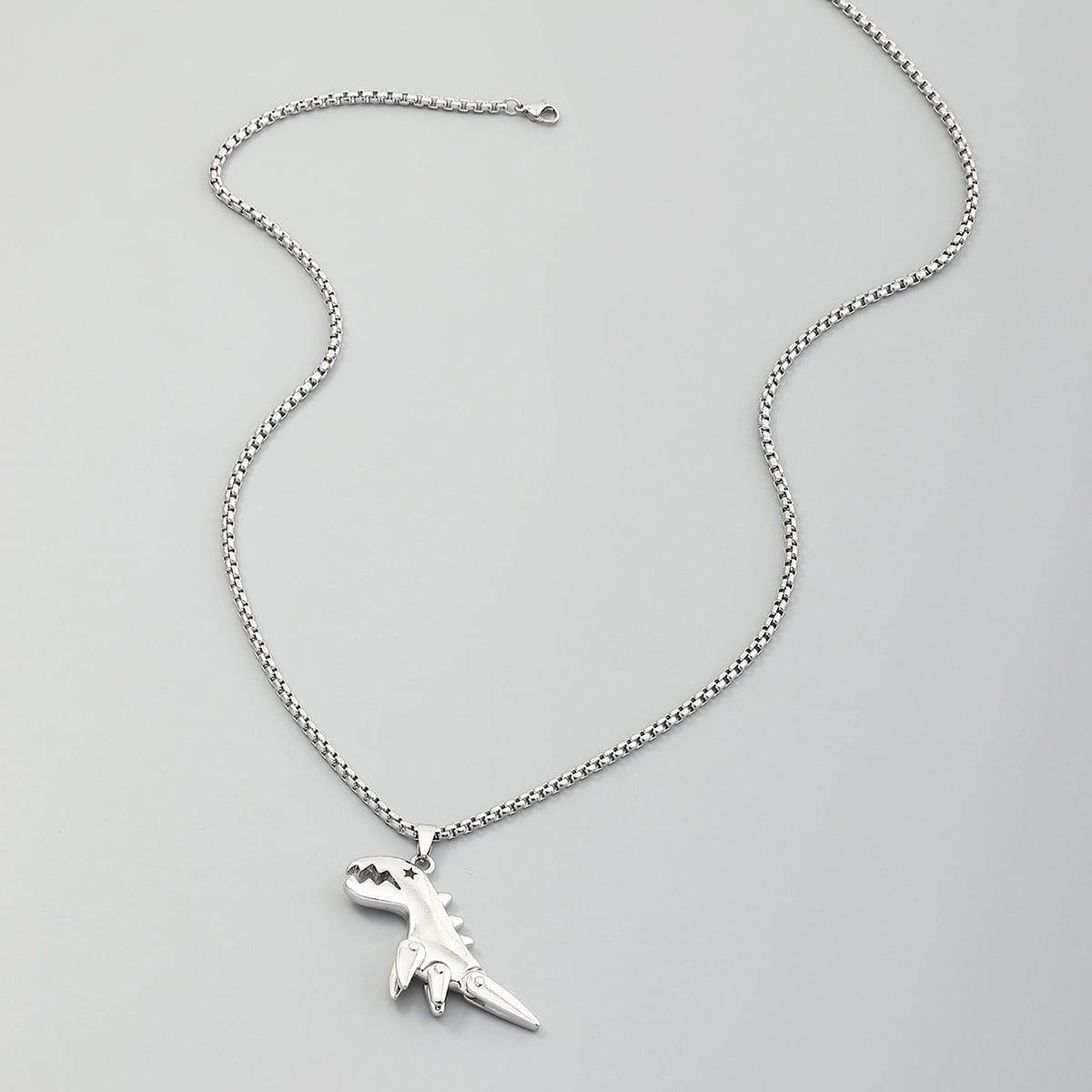 Мужское ожерелье с декором динозавра от SHEIN