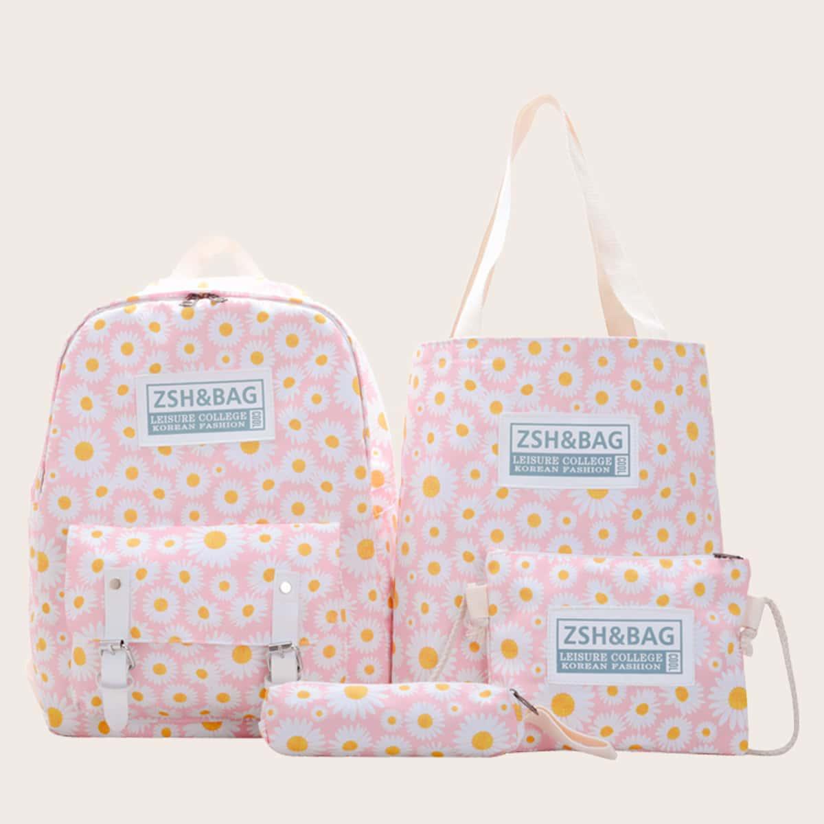 4шт сумка с принтом маргаритки для девочек фото