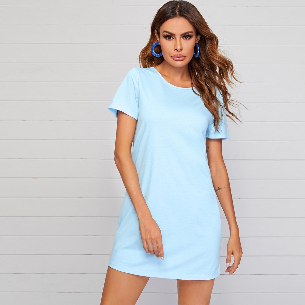 Платье-футболка с перекрещенной спинкой фото