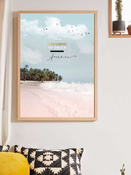 Beach Print Wall Painting Without Frame