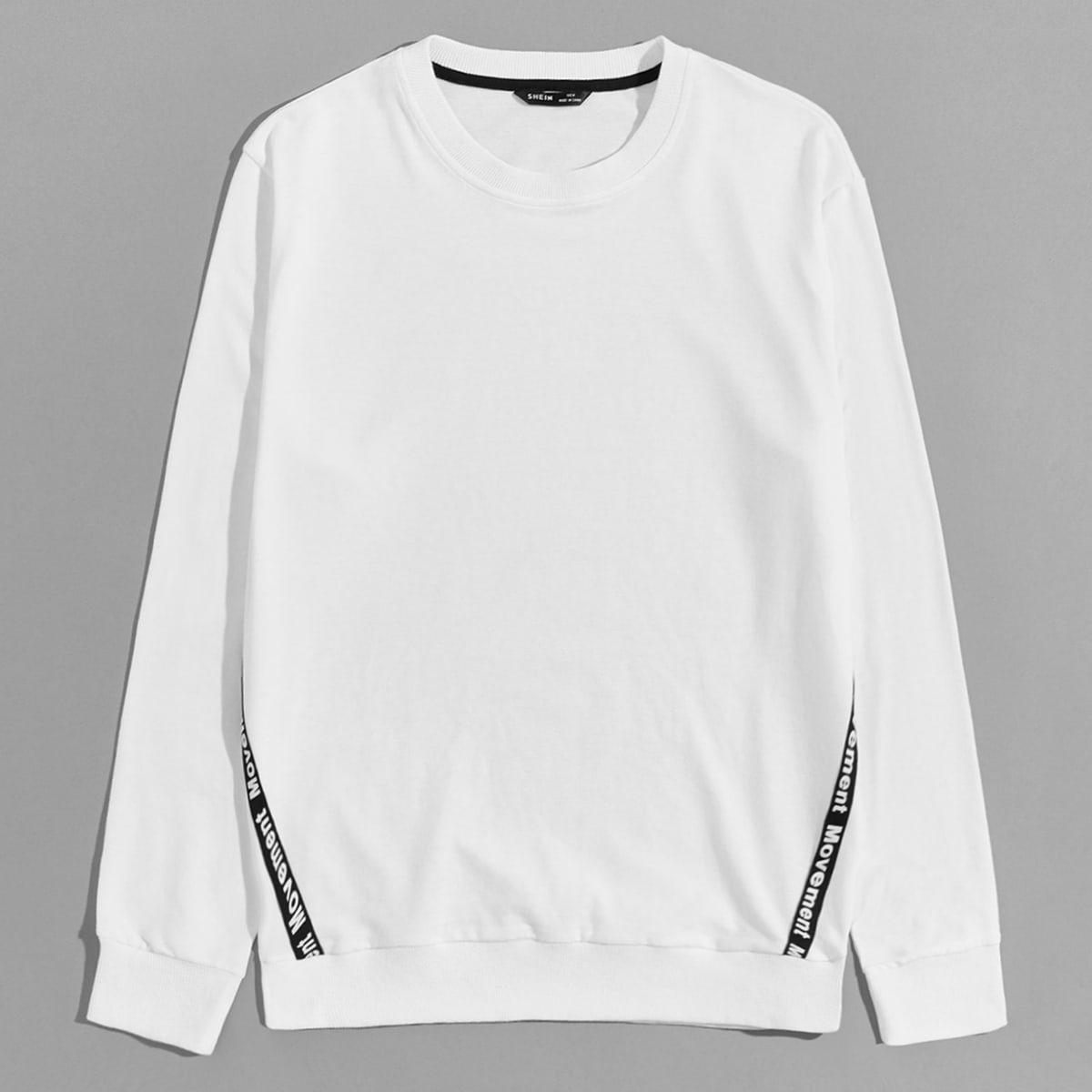Мужской пуловер с текстовой лентой от SHEIN