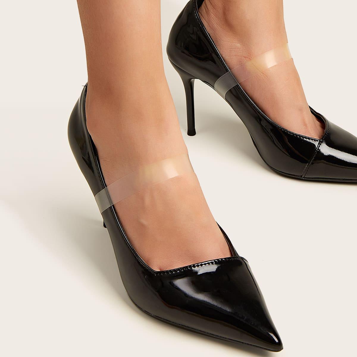 1 пара прозрачный невидимый ремешок для туфли