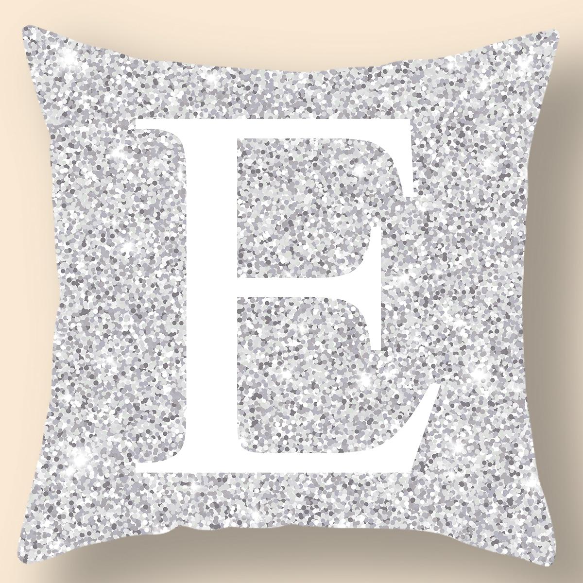 Чехол для подушки с текстовым рисунком без наполнителя фото