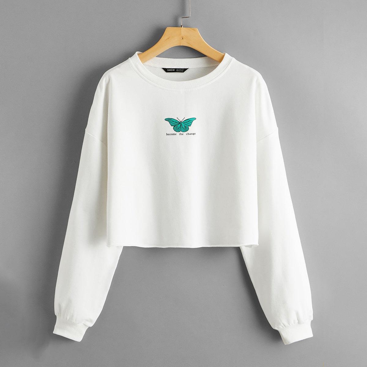 Пуловер с оригинальным принтом фото