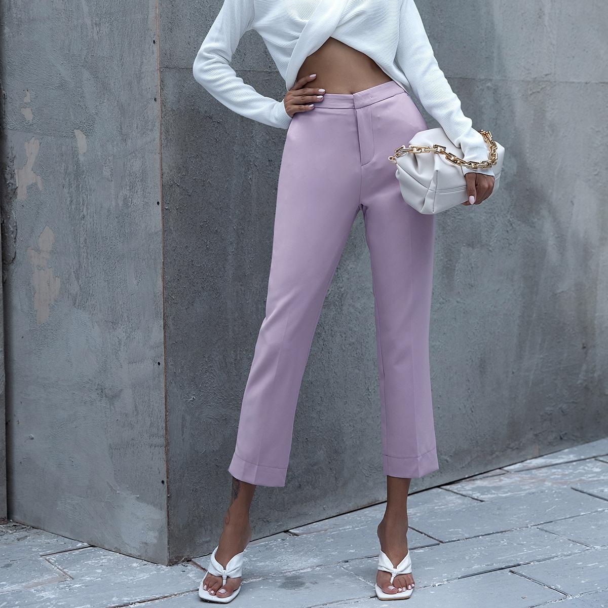 Однотонные короткие брюки фото