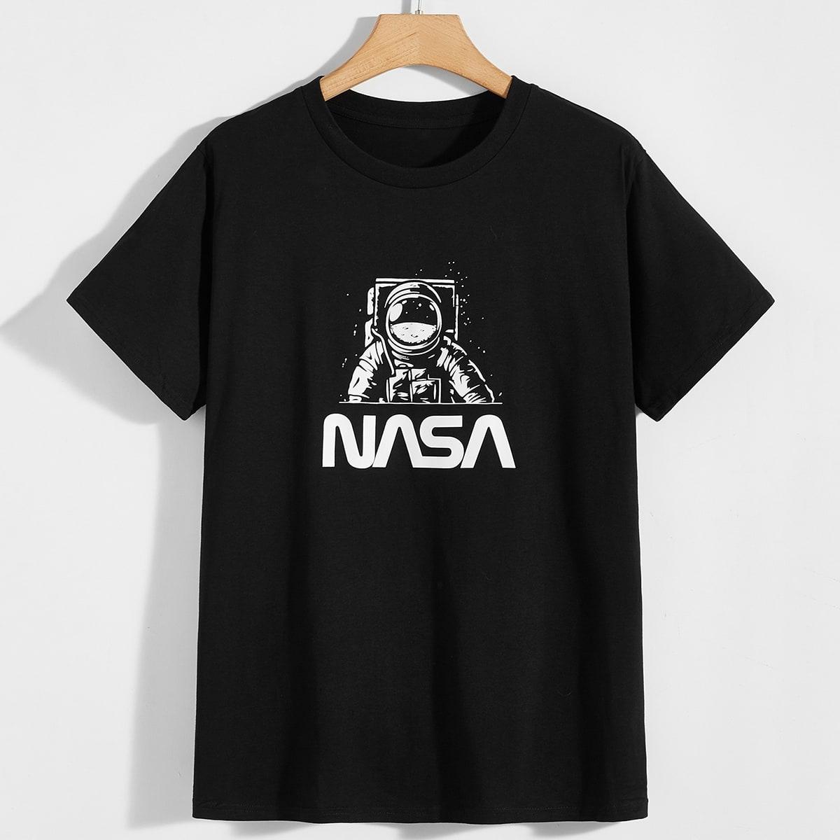 Чёрный Текст Институтский Мужские футболки фото