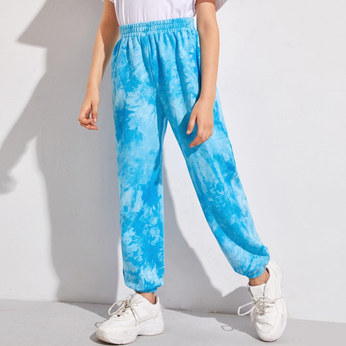 Разноцветные спортивные брюки для девочек от SHEIN
